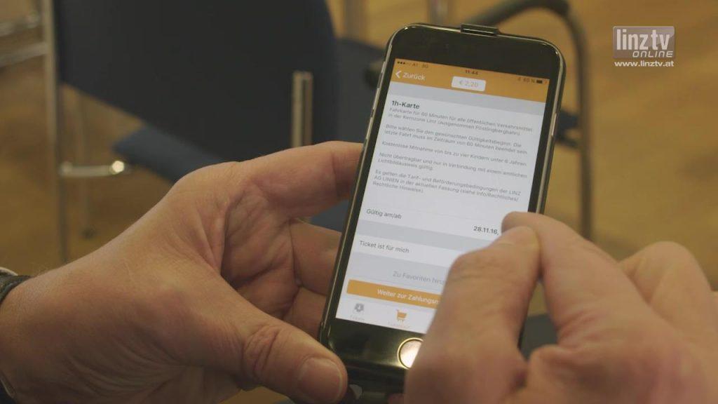 Fahrkarten App der LINZ AG LINIEN