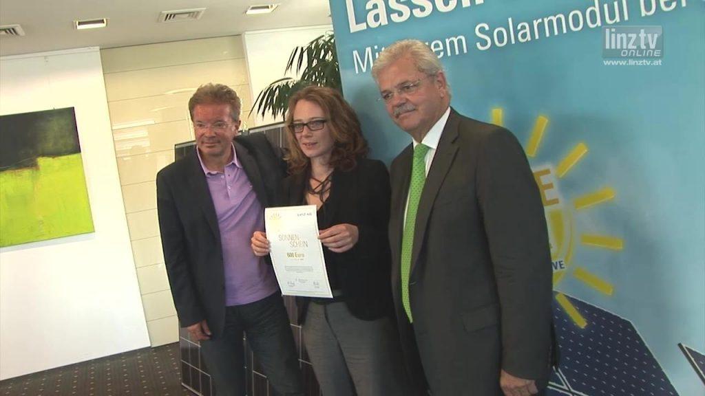 Sonnenscheine für LINZ AG Solaranlage