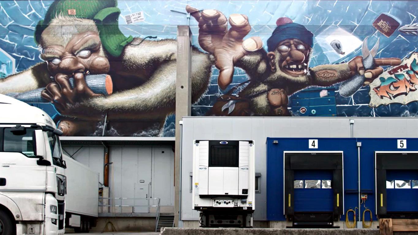 Linz AG Mural Harbor